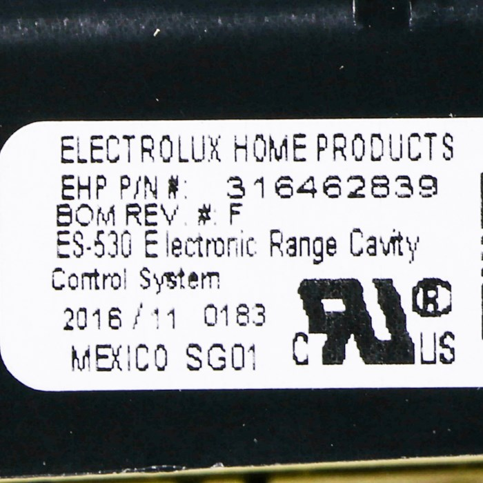 316462839 ELECTROLUX FRIGIDAIRE Wall oven control board