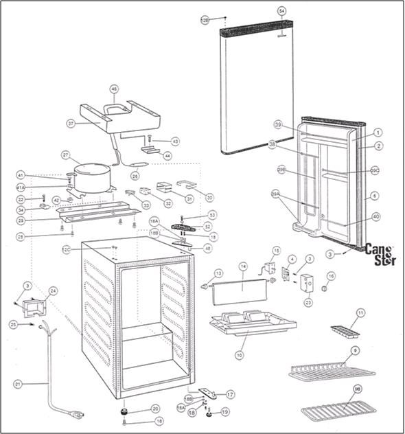 Danby refrigerator parts diagram best refrigerator 2017 danby refrigerator parts model dar340w sears partsdirect cheapraybanclubmaster Images