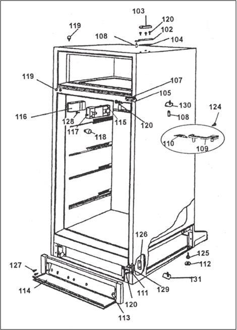 danby refrigerator wiring diagram dpr2260cd | section 1 image 5 | refrigerator | top freezer ... #1