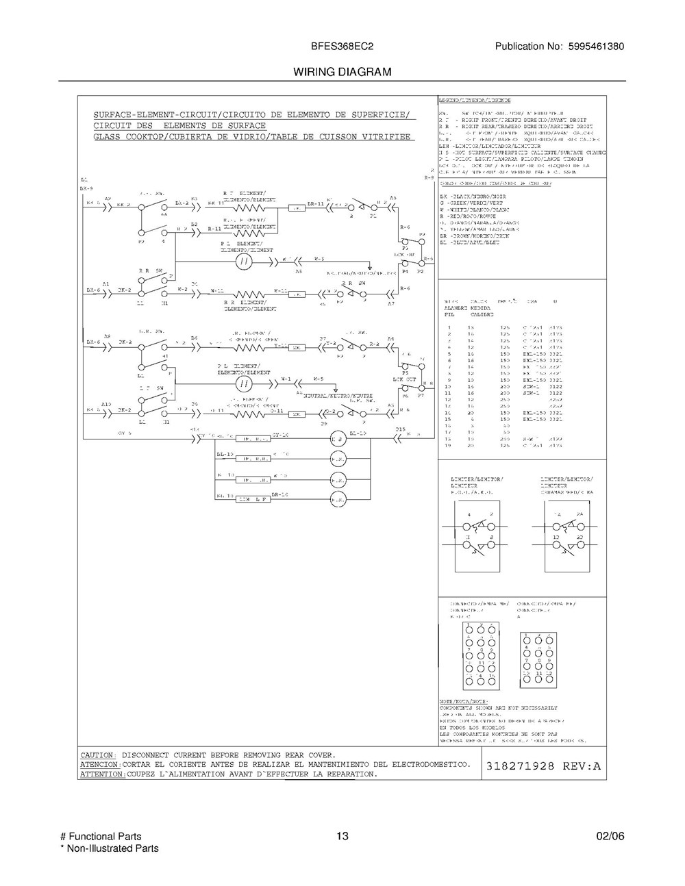 Bfes368ec2 Frigidaire Company Appliance Parts Backguard 05body 07top Drawer 09door 01cover 10wiring Diagram