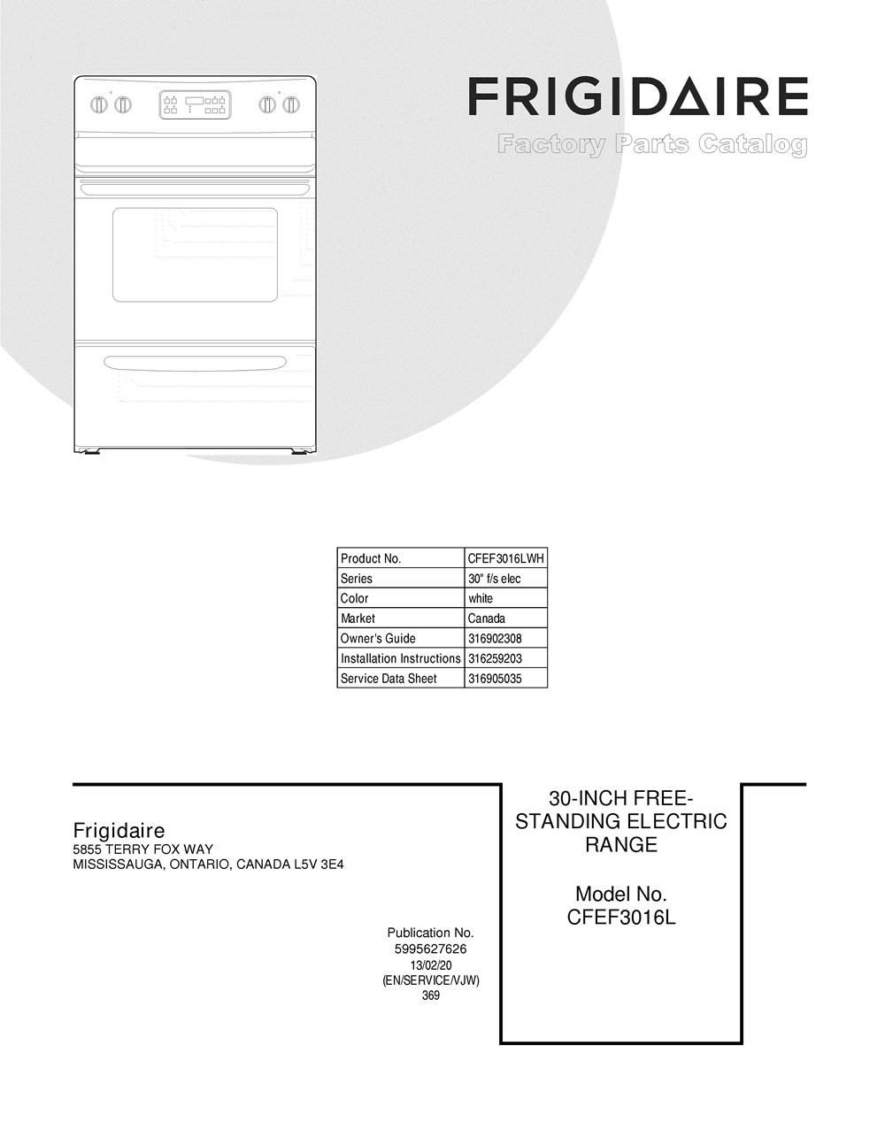 Cfef3016lwh Frigidaire Company Thermador Range Wiring Diagram