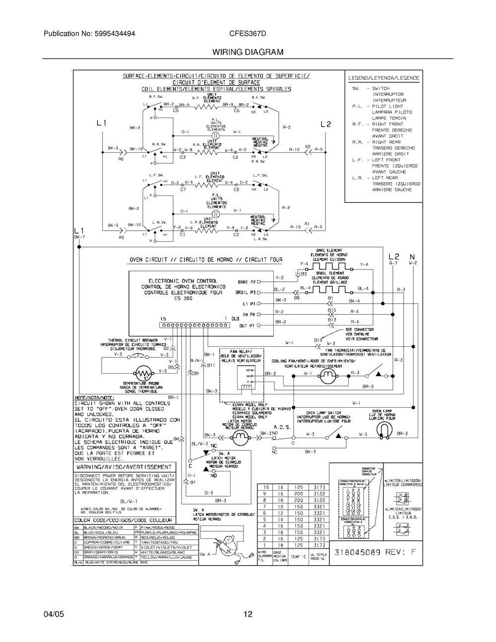 Cfes367ds3 Frigidaire Company Backguard 05body 07top Drawer 09door 01cover 10wiring Diagram