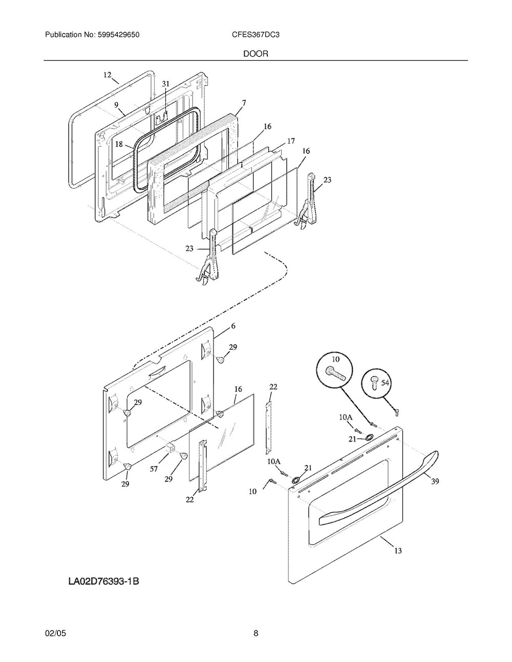 Cfes367dc3 Frigidaire Company Backguard 05body 07top Drawer 09door 01cover 10wiring Diagram