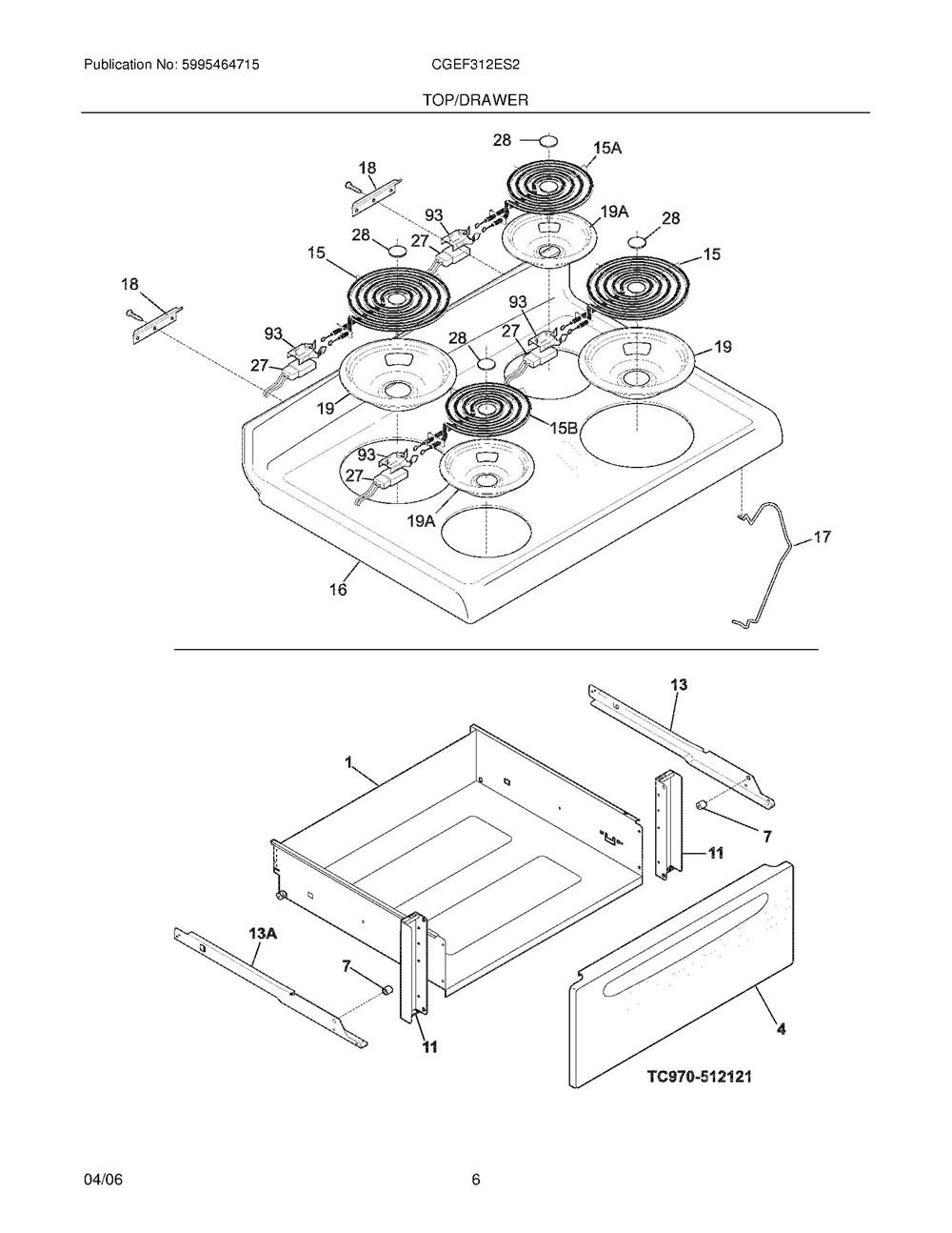 Cgef312es2 Frigidaire Company Appliance Parts Backguard 05body 07top Drawer 09door 01cover 10wiring Diagram
