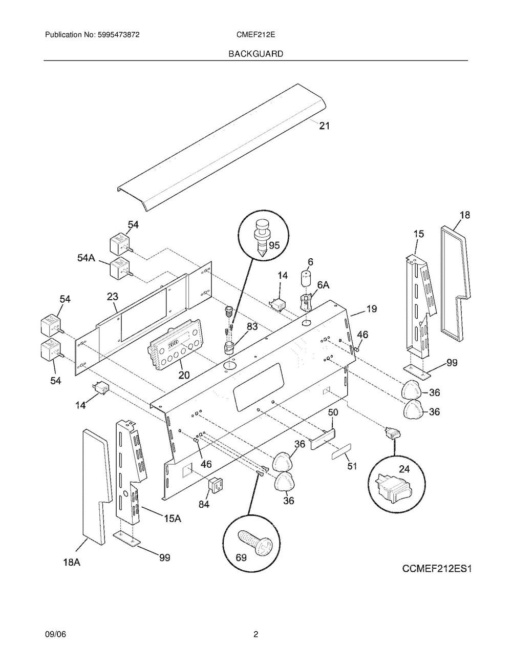 Cmef212es2 Frigidaire Company Backguard 05body 07top Drawer 09door 01cover 10wiring Diagram