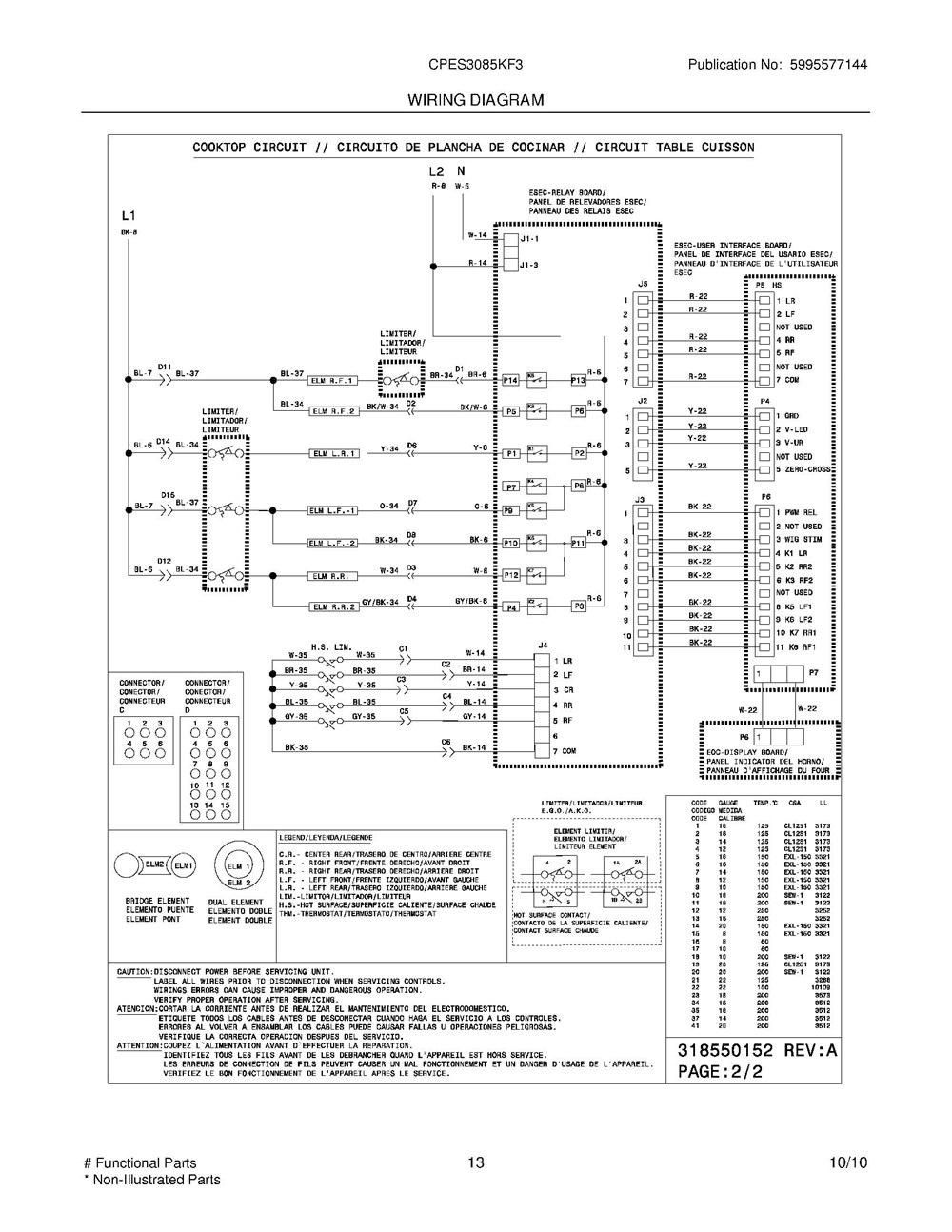 Cpes3085kf3 Frigidaire Company 07top Drawer 09door 01cover 10wiring Diagram 11wiring