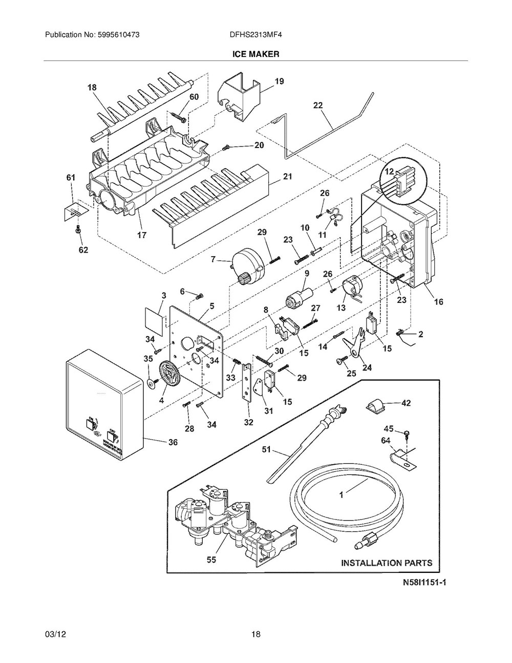Dfhs2313mf4 Frigidaire Company Ice Maker Wiring Diagram