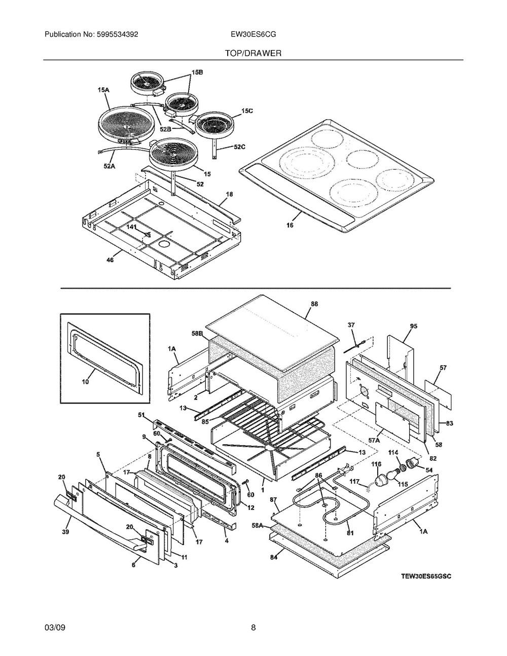 Ew30es6cgs4 Frigidaire Company 07top Drawer 09door 01cover 10wiring Diagram 11wiring