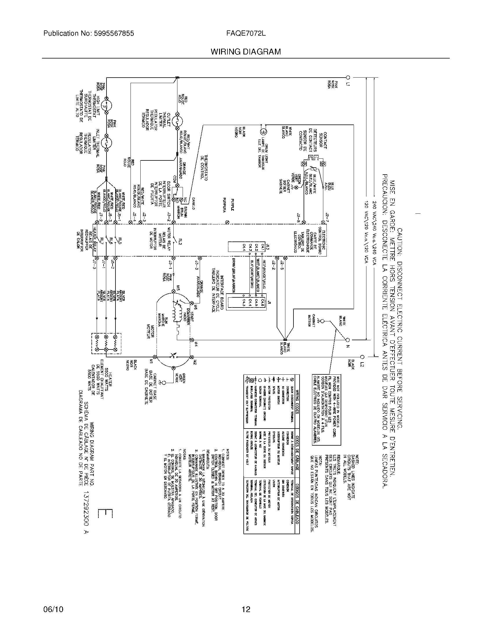 Frigidaire Affinity Dryer Wiring Diagram Electrical Diagrams Washing Machine Range Model Fef355a House Lg Washer Pump