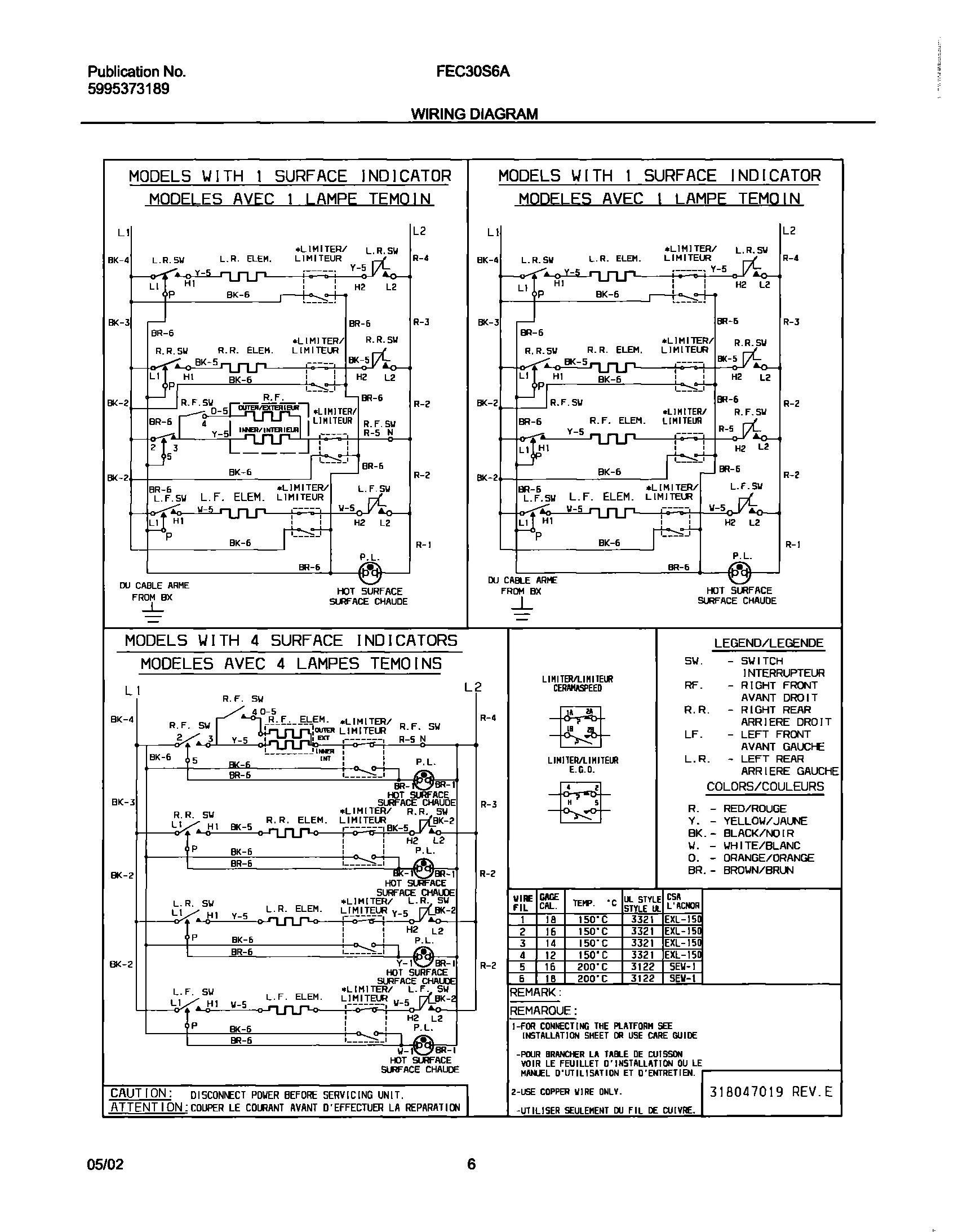 fec30s6asc frigidaire company appliance parts  at Frigidaire Model Number Fec30s6asc Colored Wire Diagram