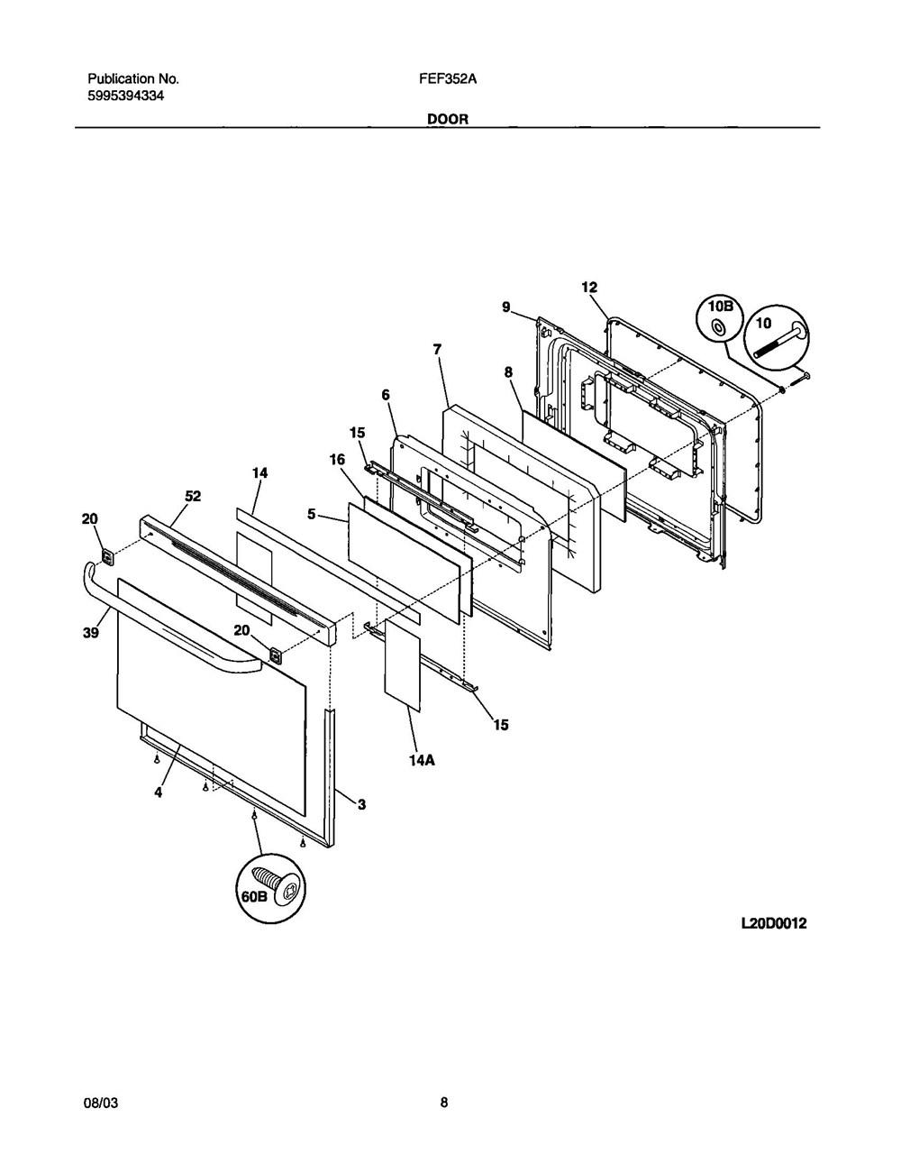 Fef352auf Frigidaire Company 07top Drawer 09door 01cover 10wiring Diagram 11wiring