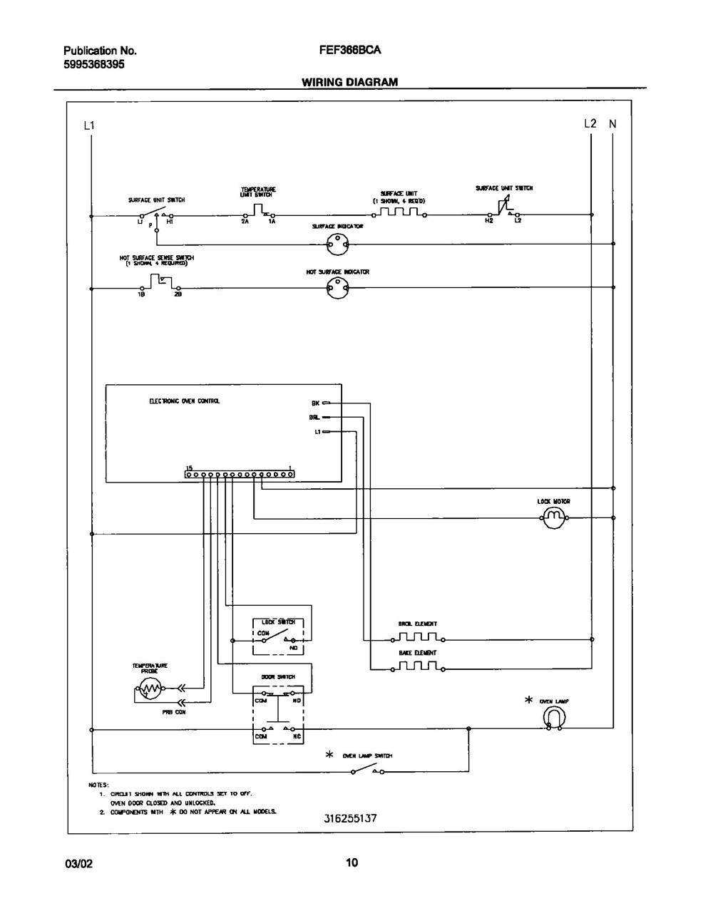Fef366bca Frigidaire Company Backguard 05body 07top Drawer 09door 01cover 10wiring Diagram