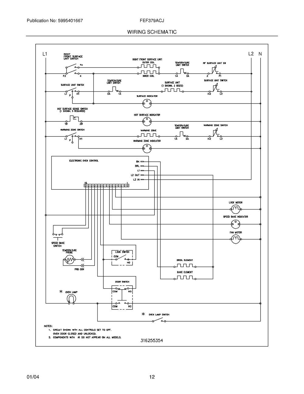 Fef379acj Frigidaire Company 07top Drawer 09door 01cover 10wiring Diagram 11wiring