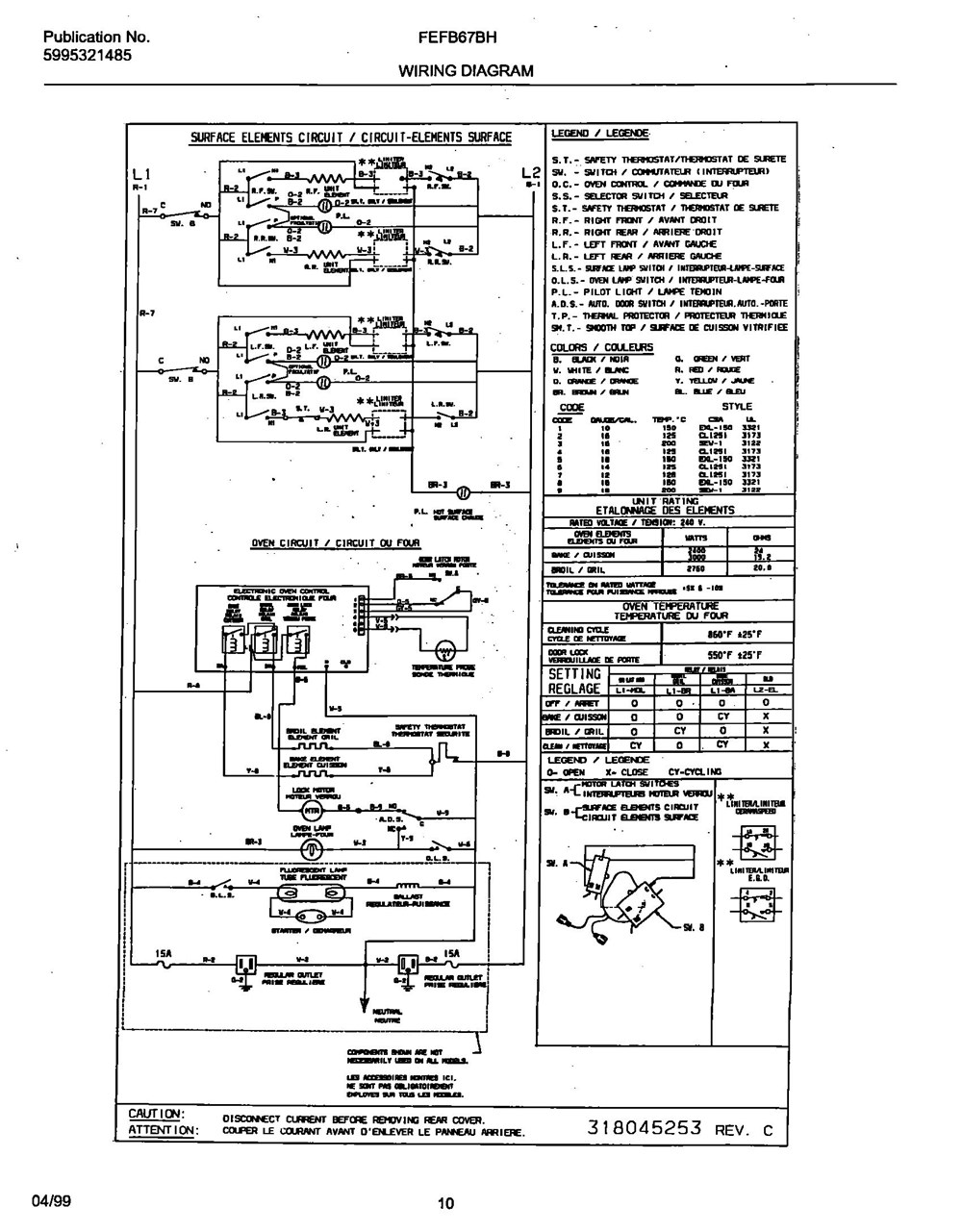 Fefb67bhwa Frigidaire Company Backguard 05body 07top Drawer 09door 01cover 10wiring Diagram