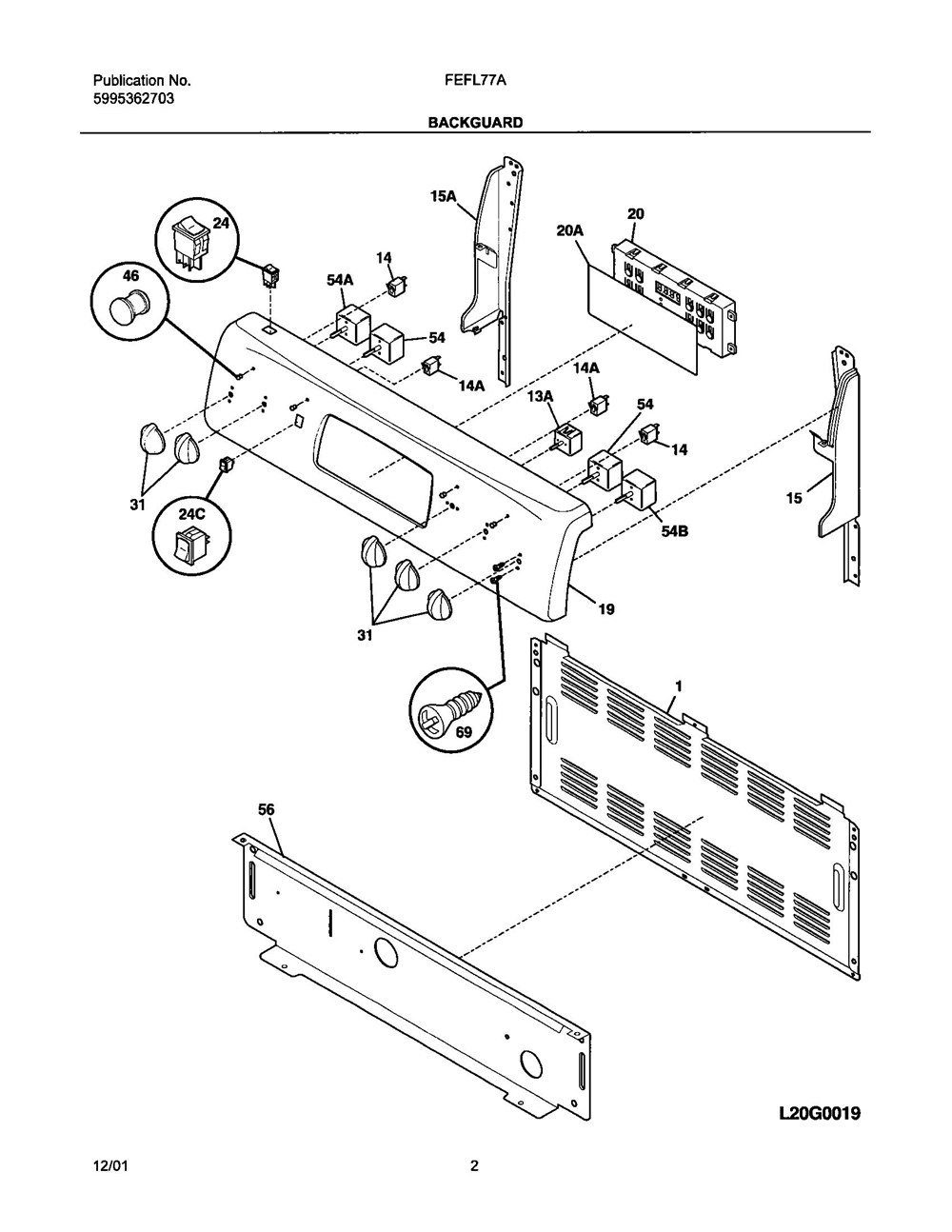 Fefl77asc Frigidaire Company Appliance Parts 07top Drawer 09door 01cover 10wiring Diagram 11wiring