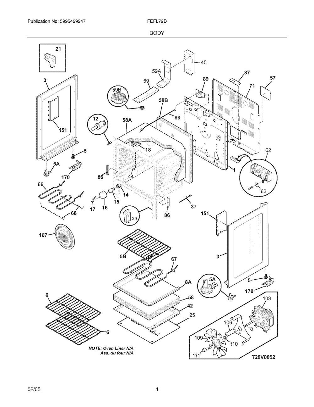 Fefl79dbd Frigidaire Company Backguard 05body 07top Drawer 09door 01cover 10wiring Diagram