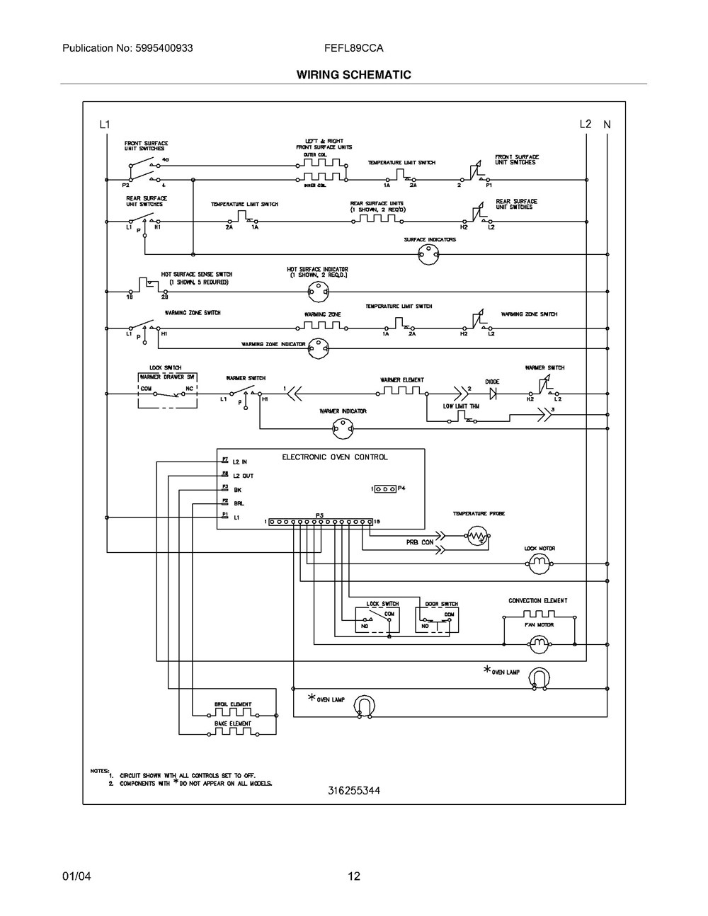 Fefl89cca Frigidaire Company Appliance Parts 07top Drawer 09door 01cover 10wiring Diagram 11wiring