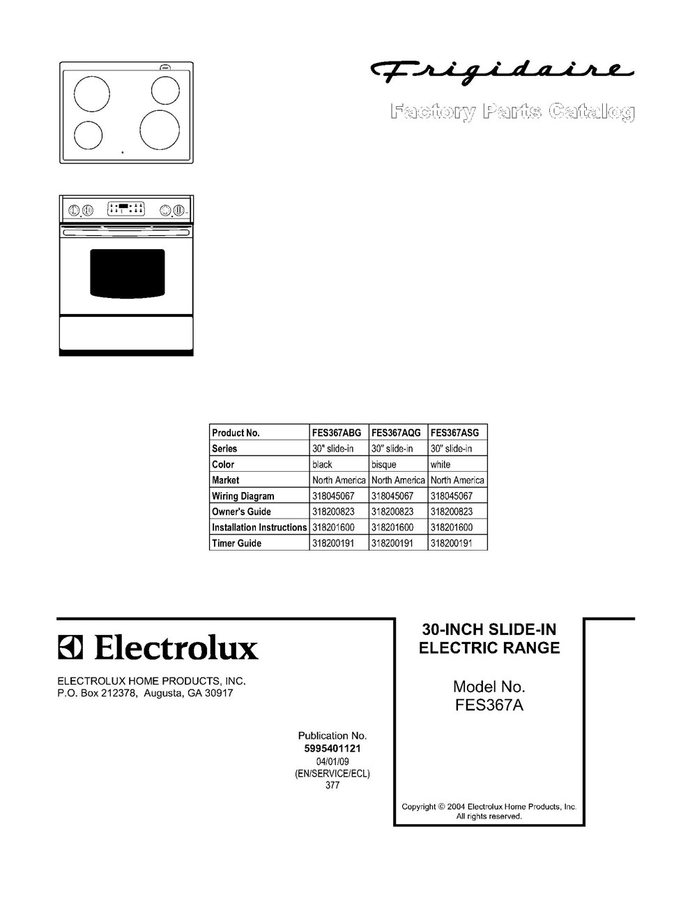 Fes367asg Frigidaire Company Backguard 05body 07top Drawer 09door 01cover 10wiring Diagram