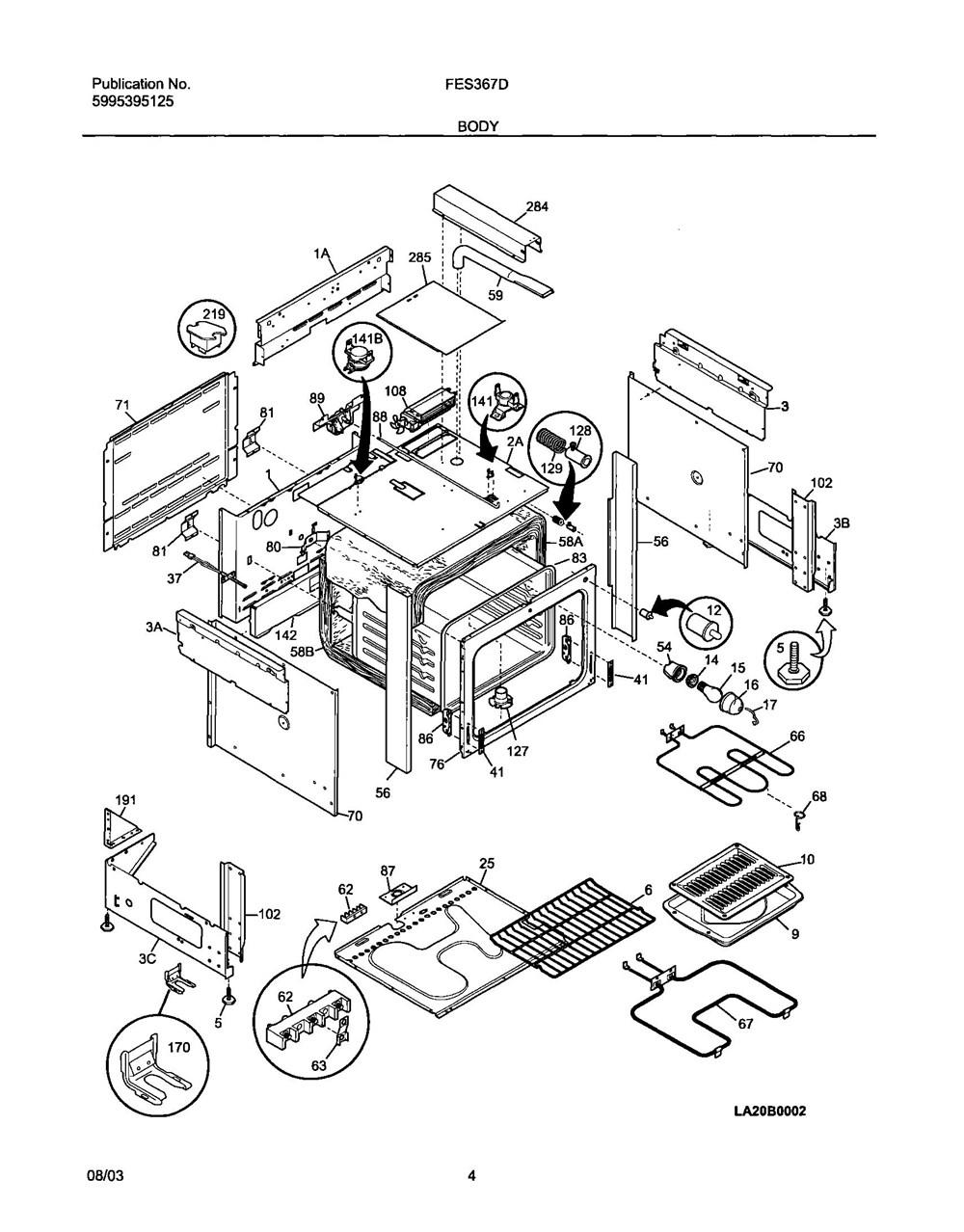 Fes367dsa Frigidaire Company Backguard 05body 07top Drawer 09door 01cover 10wiring Diagram