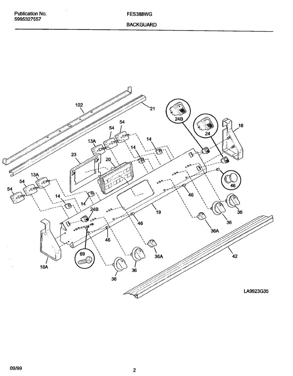 Fes388wgcg Frigidaire Company Backguard 05body 07top Drawer 09door 01cover 10wiring Diagram