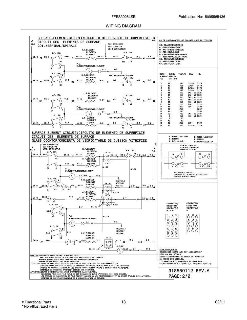 Ffes3025lsb Frigidaire Company 07top Drawer 09door 01cover 10wiring Diagram 11wiring