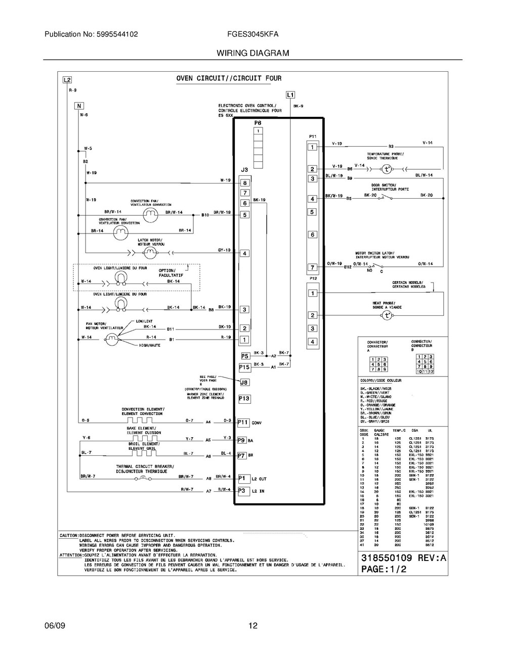 Fges3045kfa Frigidaire Company Backguard 05body 07top Drawer 09door 01cover 10wiring Diagram