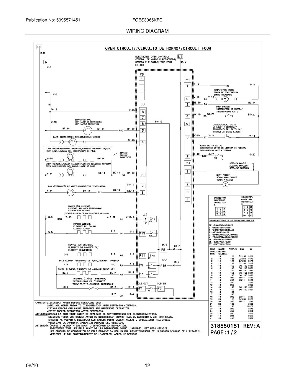 Fges3065kfc Frigidaire Company 07top Drawer 09door 01cover 10wiring Diagram 11wiring
