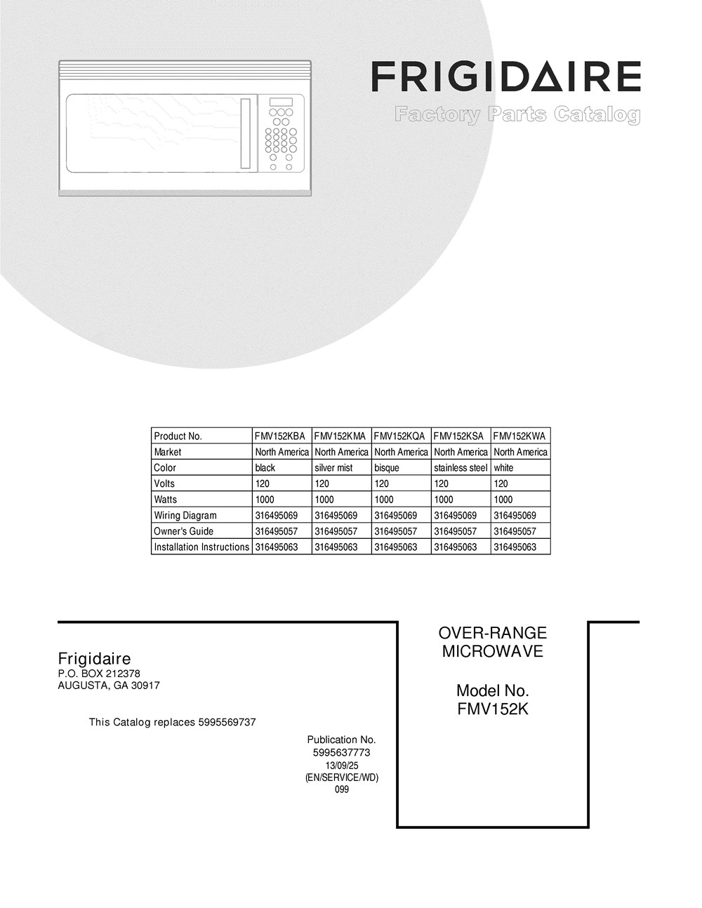 Frigidaire Microwave Wiring Diagram