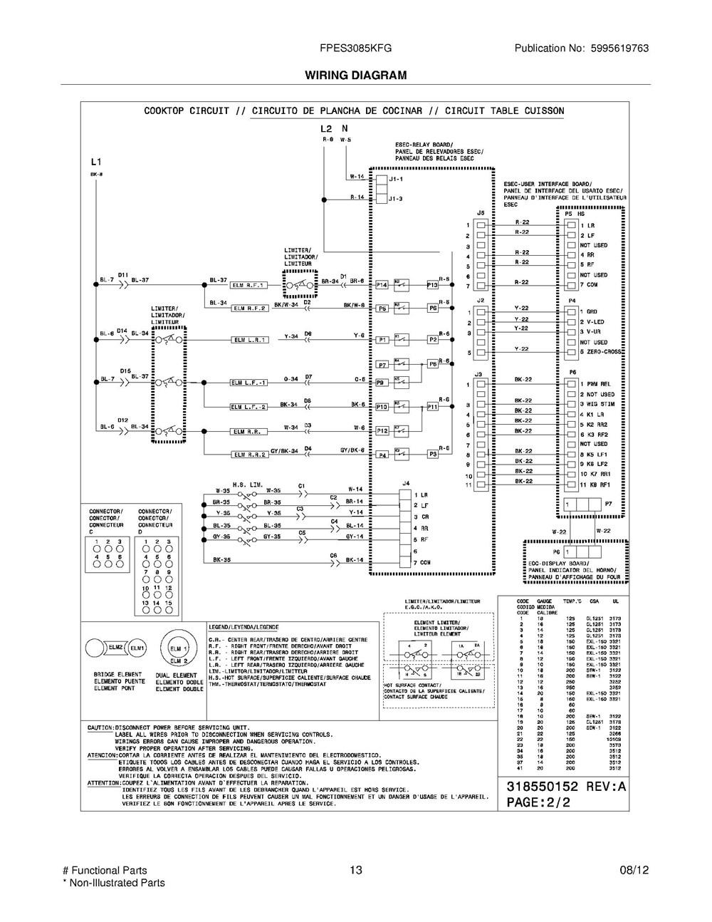 Fpes3085kfg Frigidaire Company Backguard 05body 07top Drawer 09door 01cover 10wiring Diagram