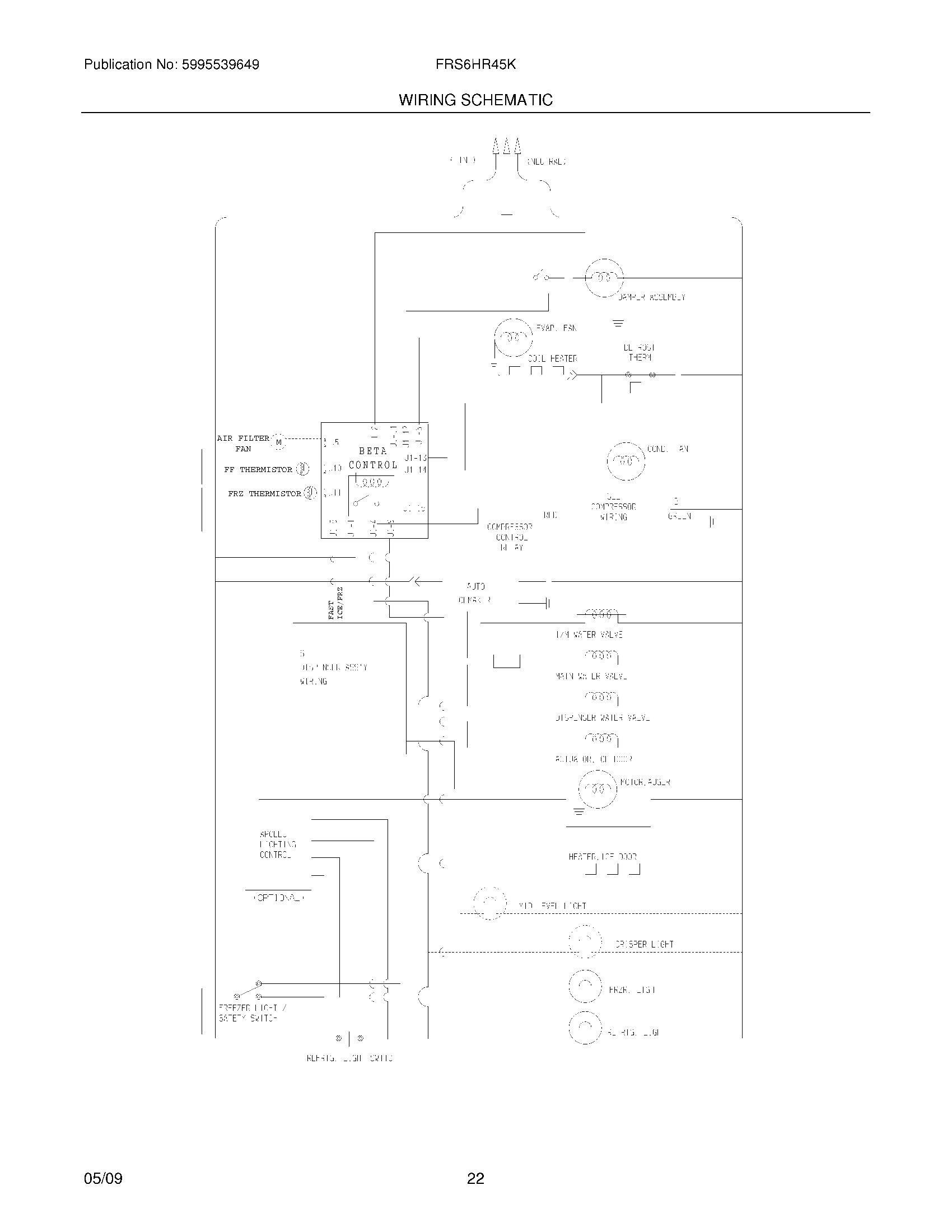 frs6hr45ks0 refrigerator wiring diagram for frigidaire model hr free printable wiring