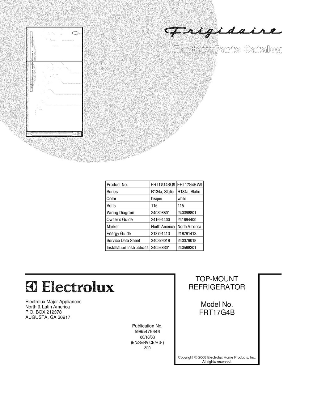 Wiring Diagram For Frigidaire Refrigerator Frt17g4bw9 Top Freezer 165 Cubic Feet Company