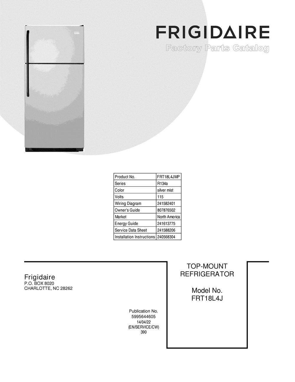 Frt18l4jmp Frigidaire Company Refrigerator Compressor Wiring Diagram
