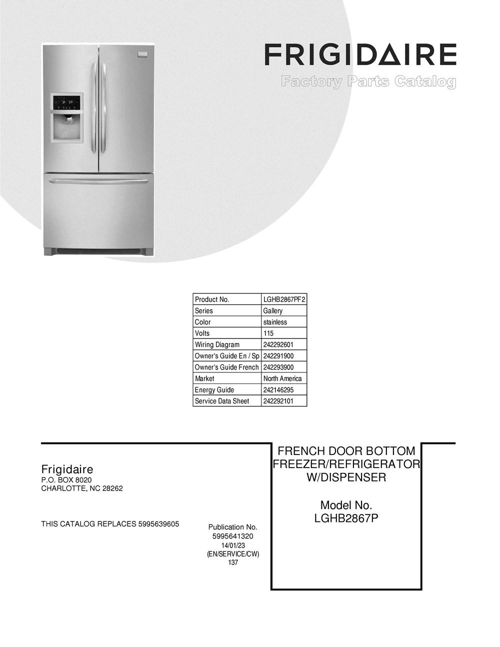 Lghb2867pf2 Frigidaire Company Electrolux Refrigerator Wiring Diagram