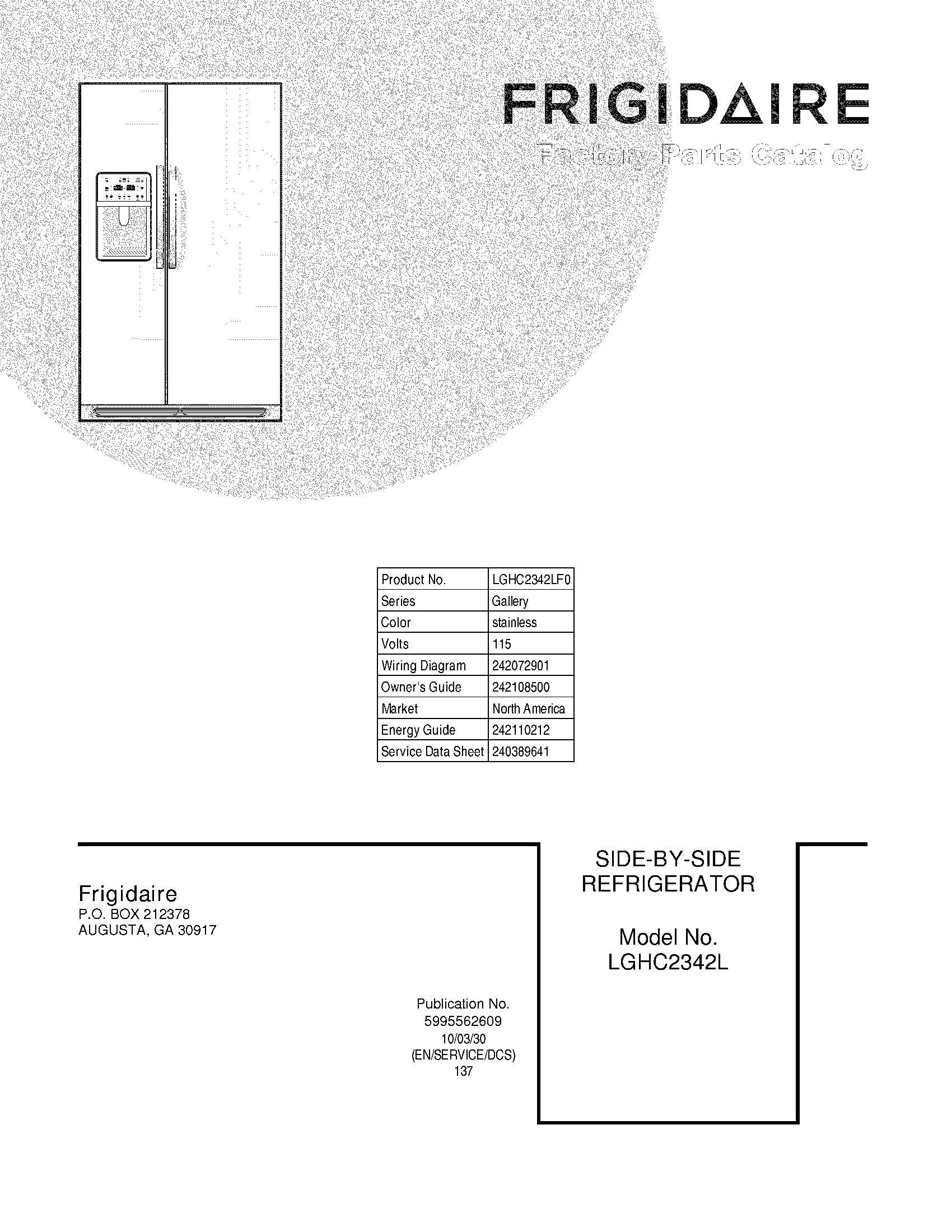 Sears Refrigerator Wiring Diagram 596 75533400 Kenmore Appliance Frigidaire Compressor For Sxs Elite