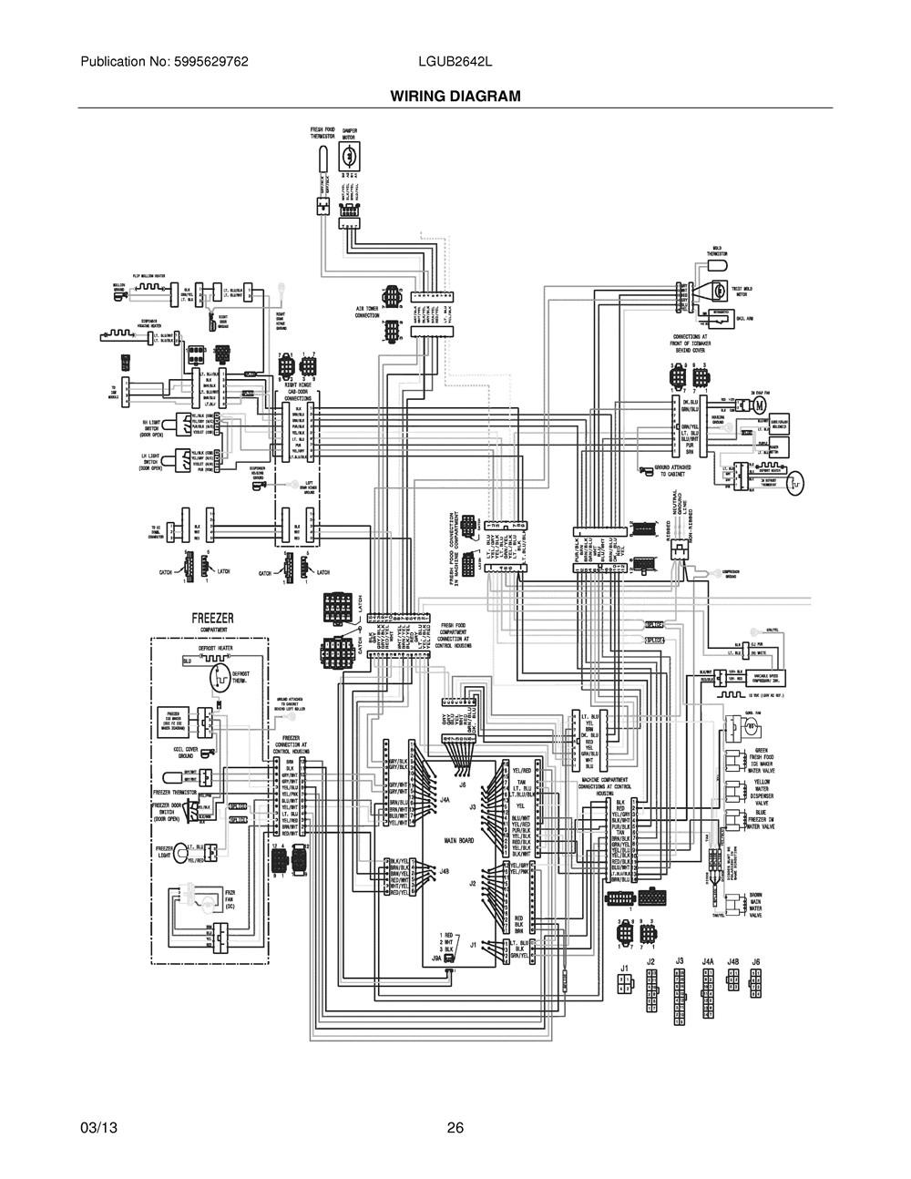 Lgub2642lf8 Frigidaire Company Lowe Wiring Diagram