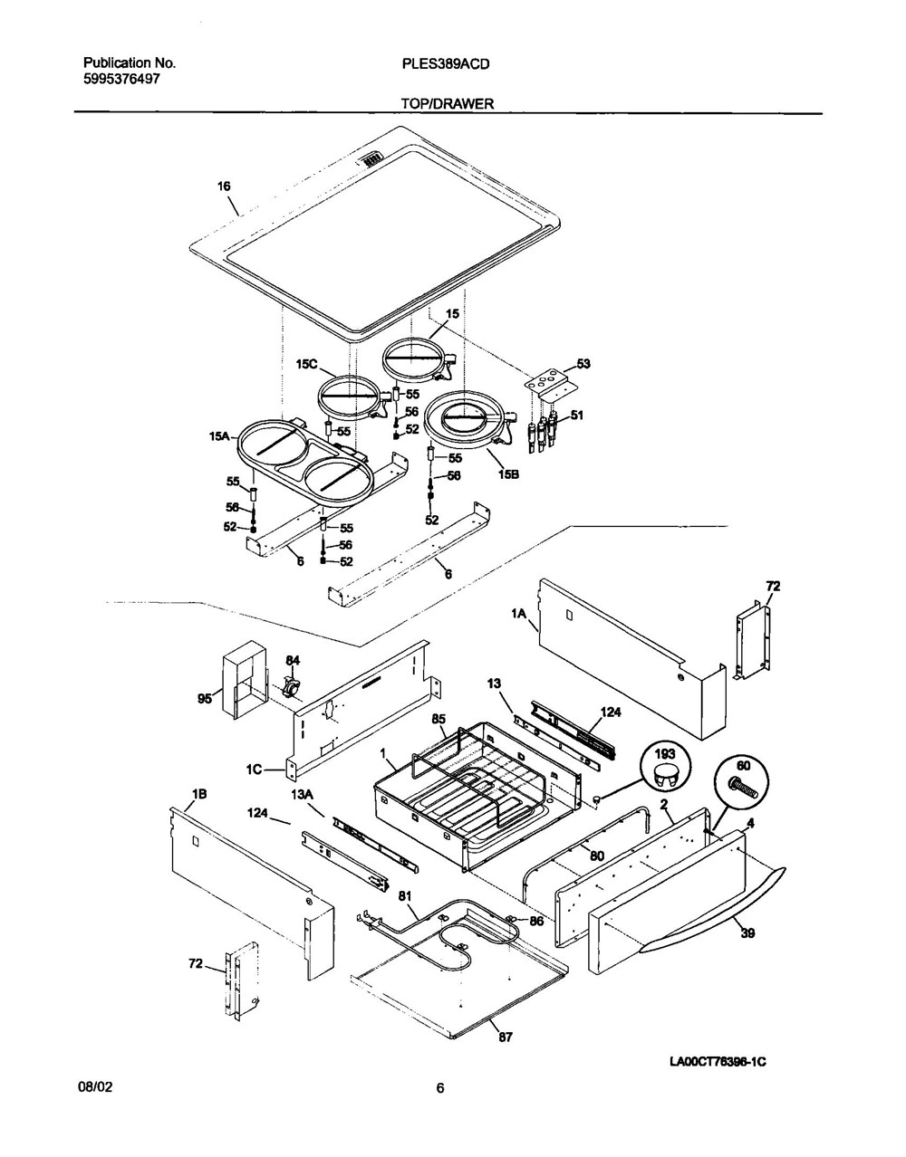Ples389acd Frigidaire Company Appliance Parts Backguard 05body 07top Drawer 09door 01cover 10wiring Diagram