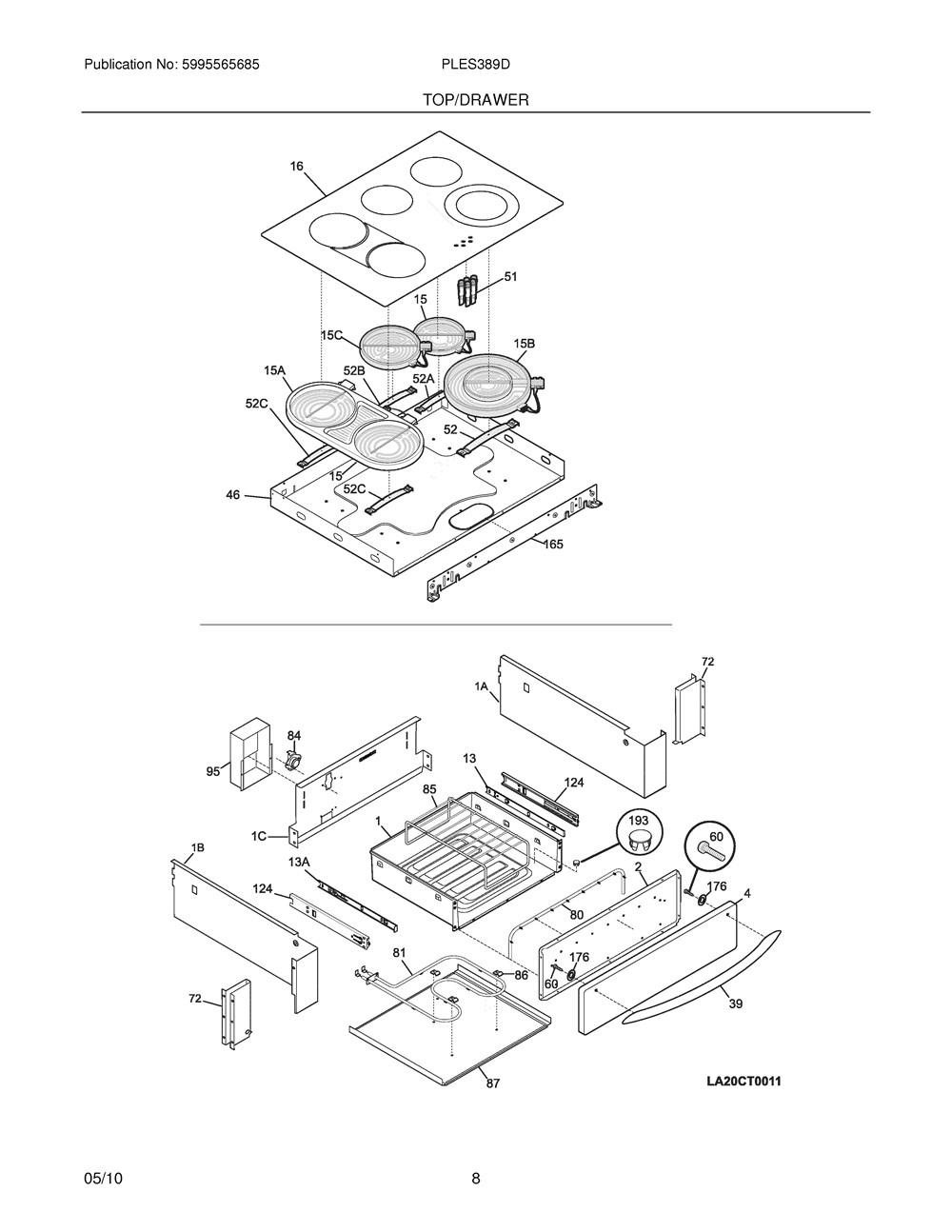 Ples389dcd Frigidaire Company Backguard 05body 07top Drawer 09door 01cover 10wiring Diagram