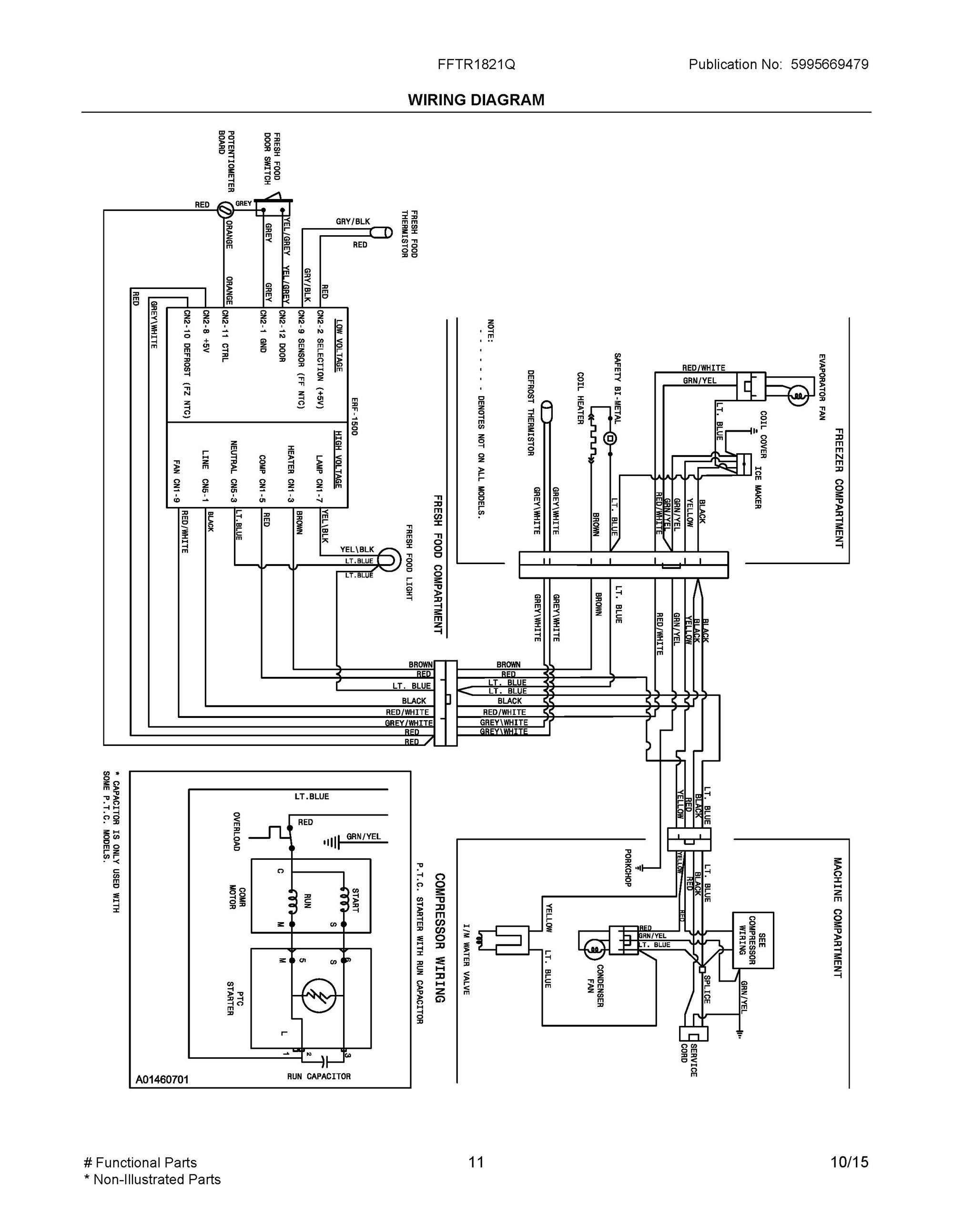 Fftr qs wiring diagram frigidaire company