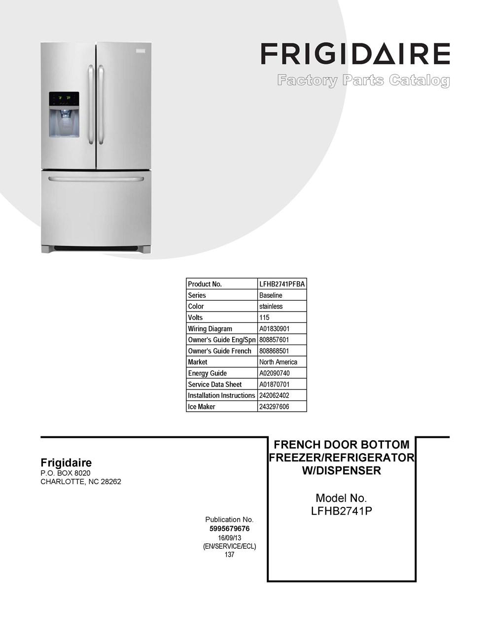 Lfhb2741pfba Frigidaire Company Refrigerator Wiring Schematic