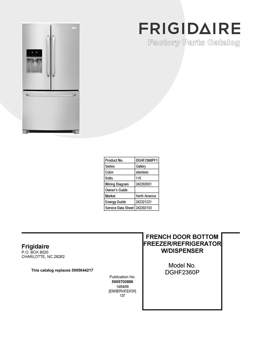 Dghf2360pf1 Frigidaire Company Valve Wiring Diagram