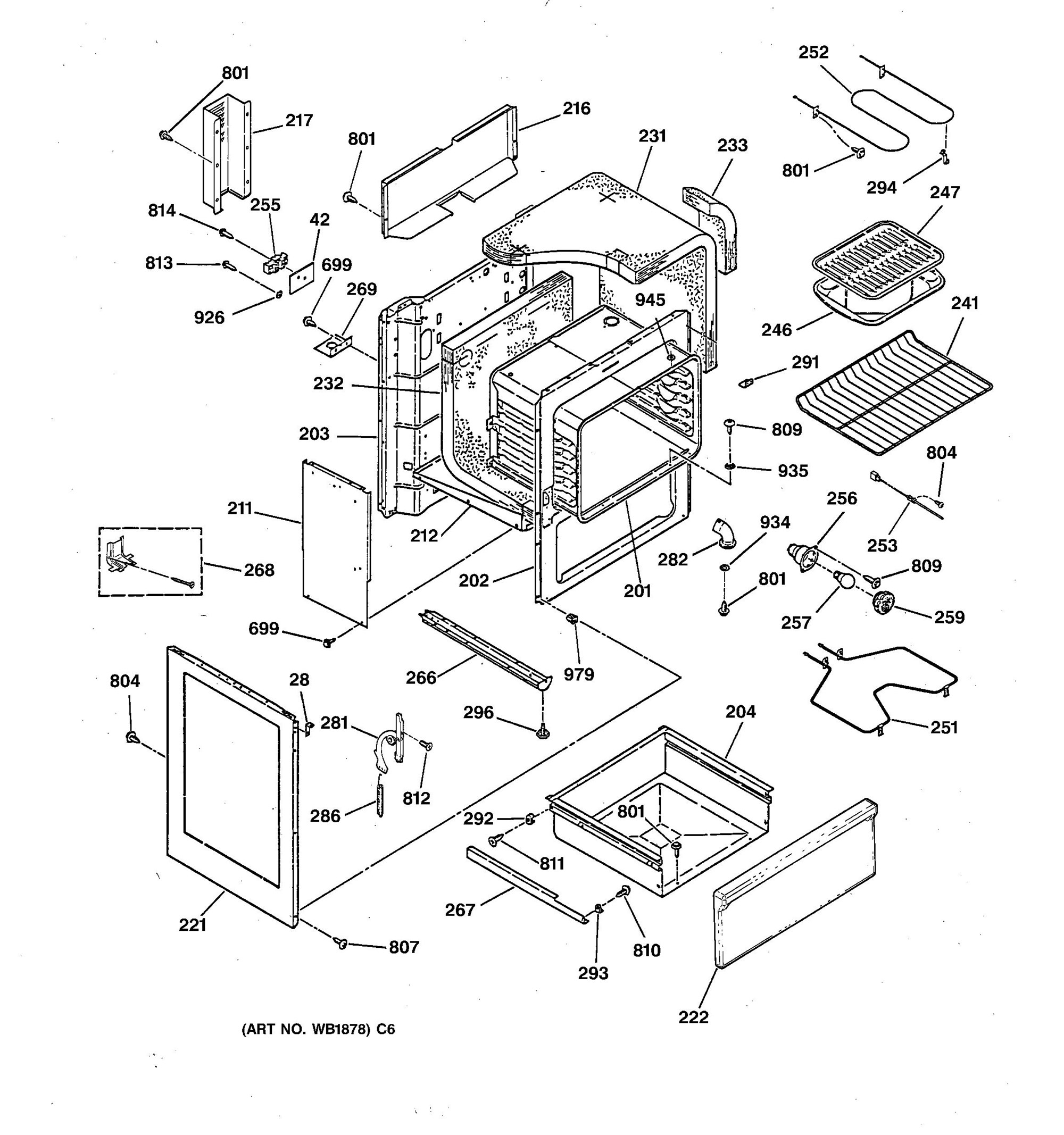 Rb787wy2ww Body Parts General Electric Appliance Schematic Click To View Diagram