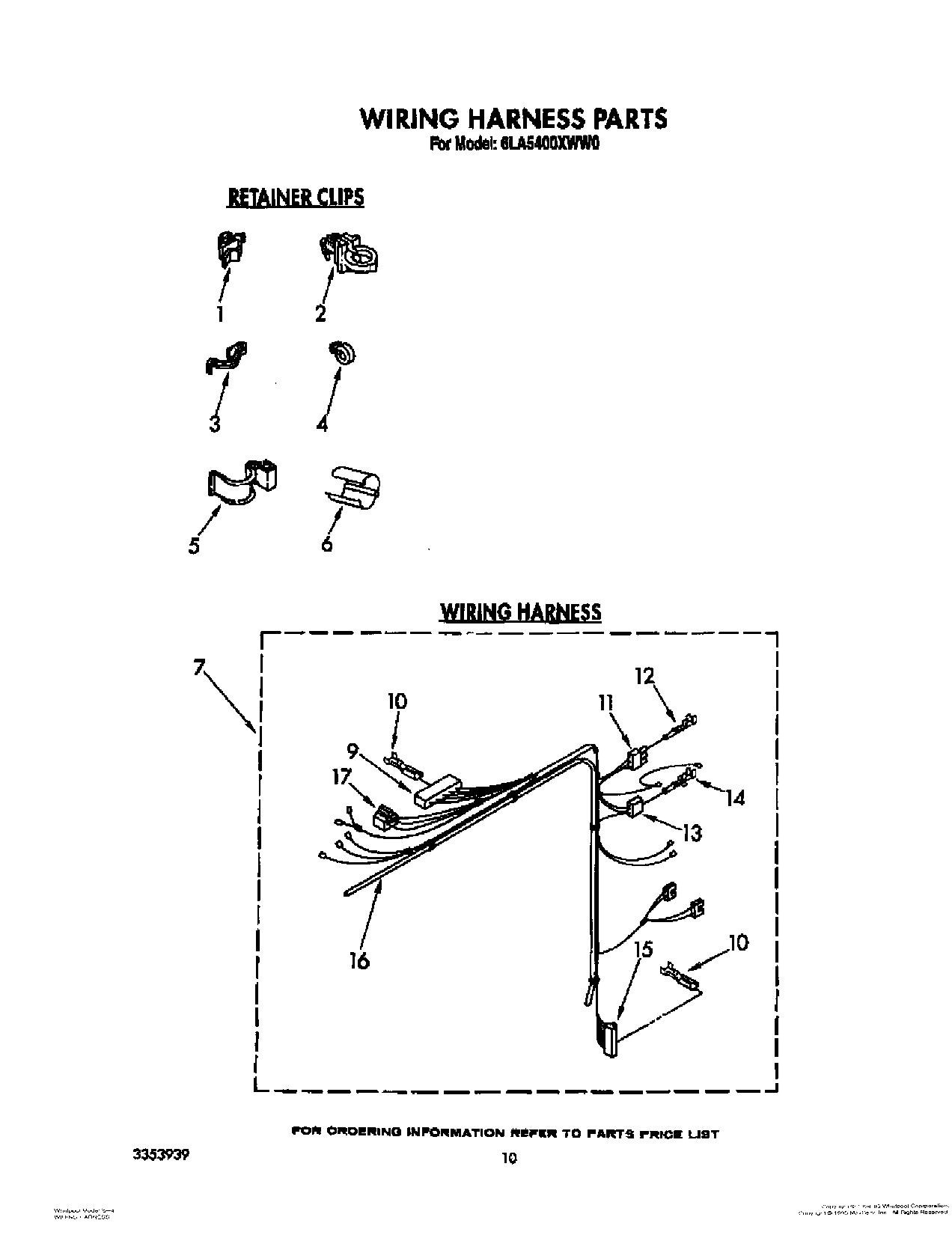 Wiring Harness Clip 90016 Diagram And Parts List For Maytag Washerparts Model Mvwc500vw1 Gm Clips Solutions Safety
