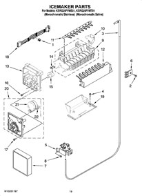 wiring diagram for kitchenaid refrigerator the wiring diagram ksrg25fvms01 refrigerator side by side kitchenaid wiring diagram