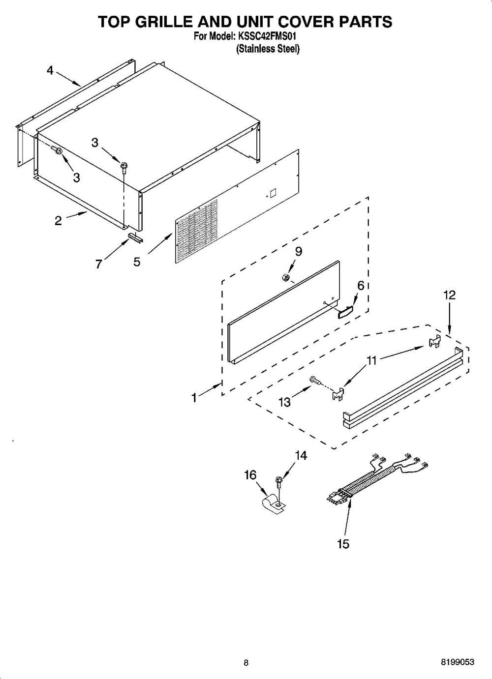 Kssc42fms01 Refrigerator 254 Cu Ft Architect Series Whirlpool Grill Wiring Diagram Kitchenaid Corporation