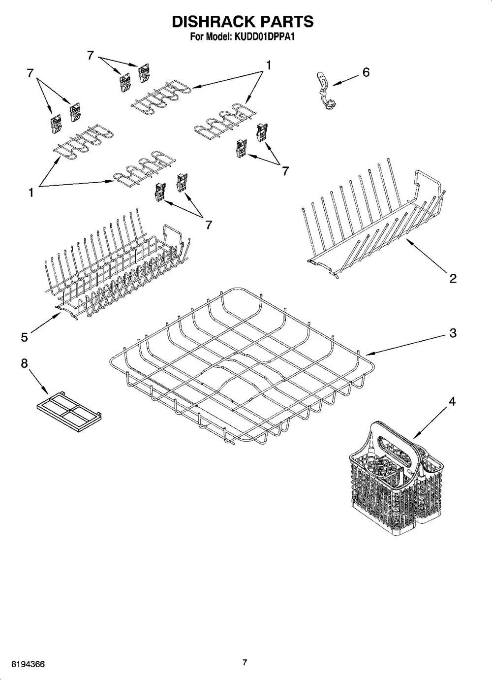 KUDD01DPPA1 Undercounter Dishwasher – Kitchenaid Dishwasher Wiring Harness Diagram