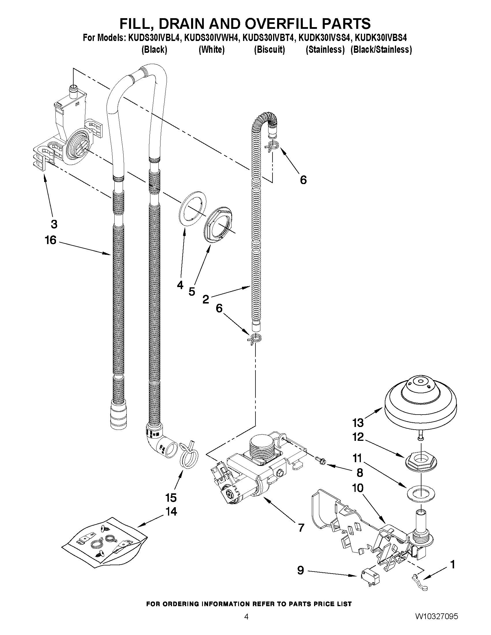 Kuds30ivbl4 Fill Drain And Overfill Parts