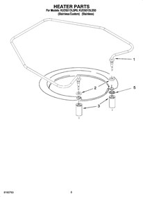 Kuds01dlsp0 Undercounter Dishwasher Built In 5 Cycles