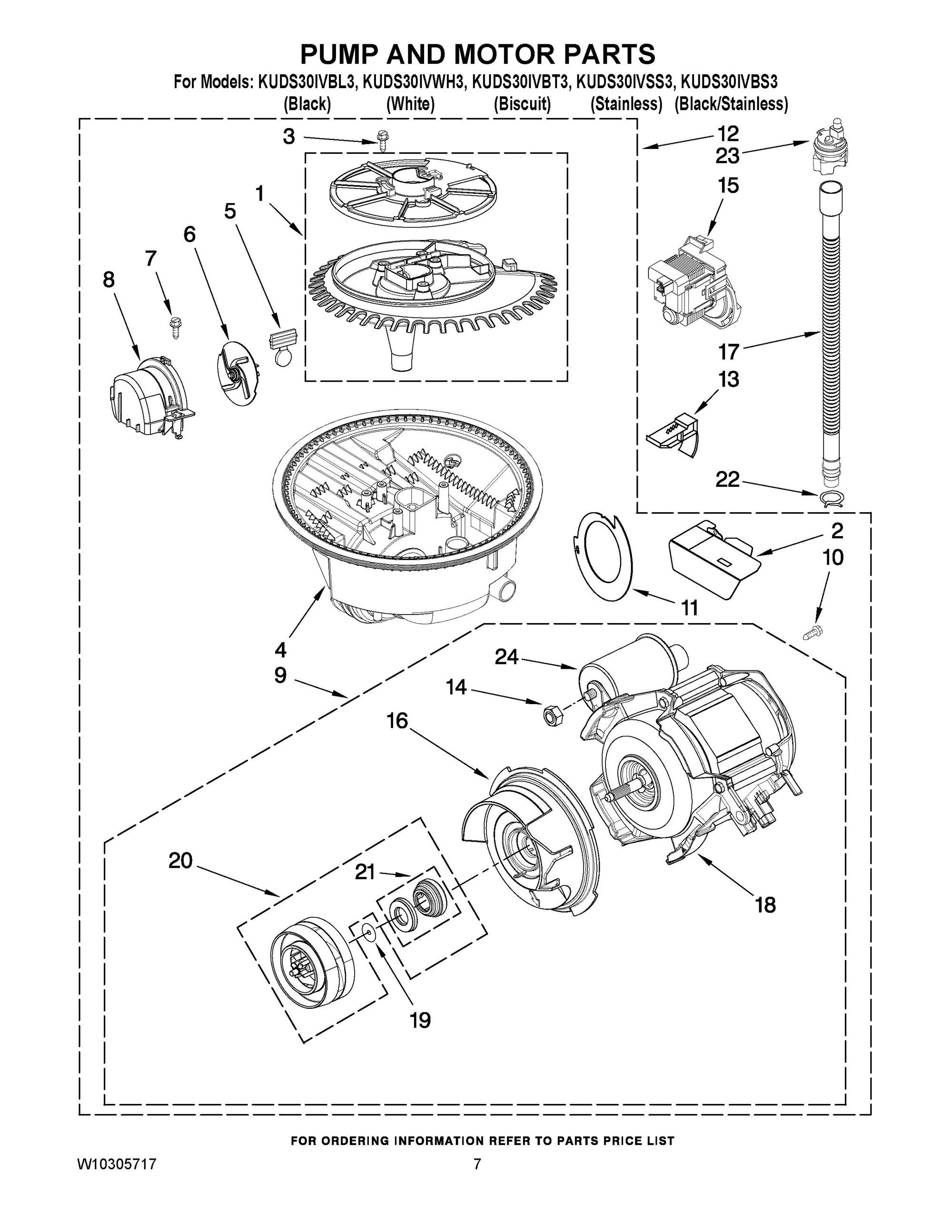 Kuds30ivbl3 Pump And Motor Parts Undercounter