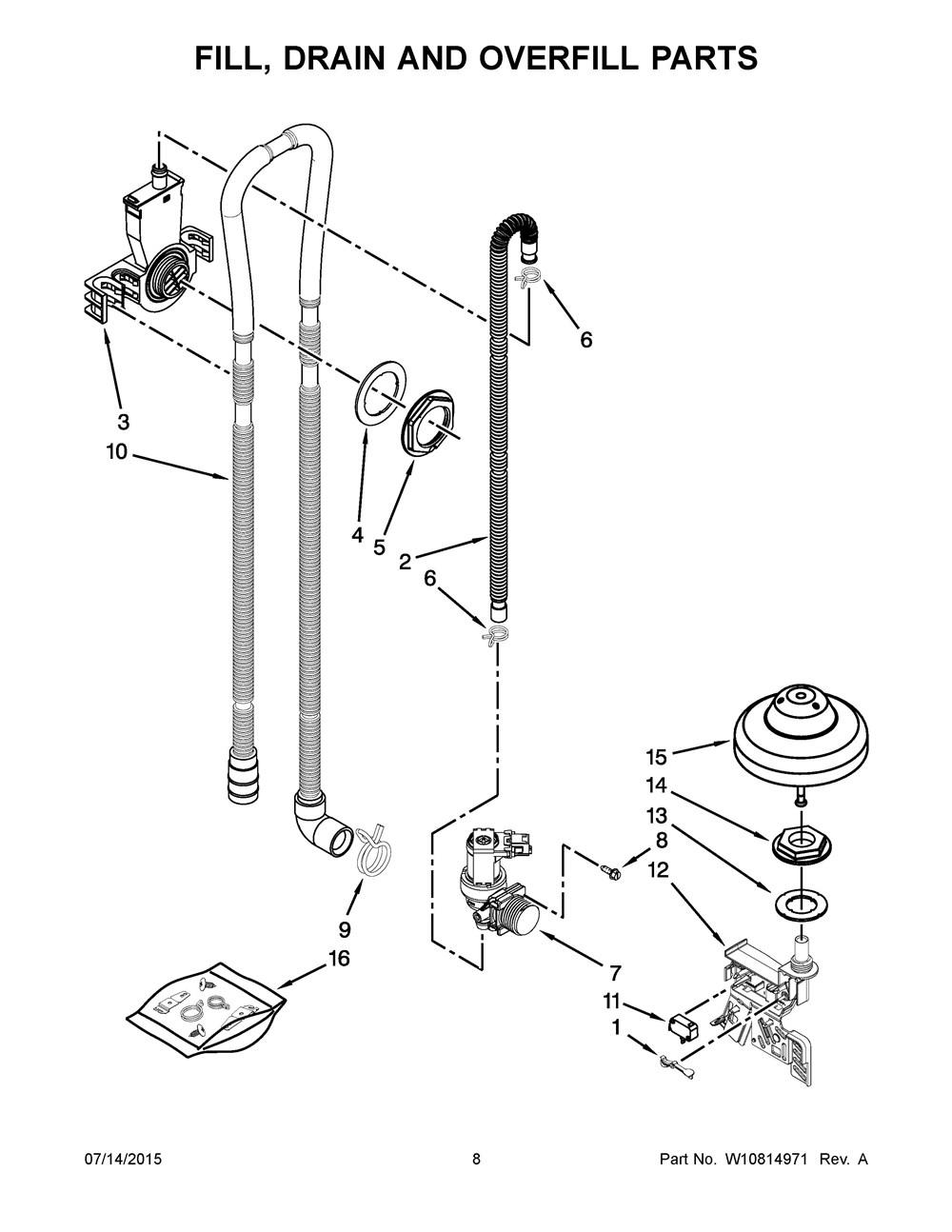 WDF760SADM2 Whirlpool Corporation – Kitchenaid Dishwasher Wiring Harness Diagram