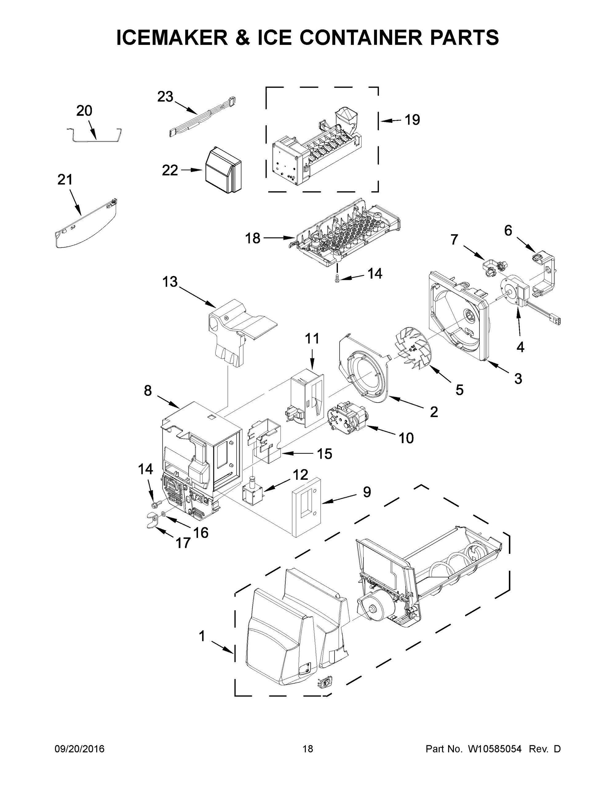 31 Whirlpool Refrigerator Ice Maker Parts Diagram
